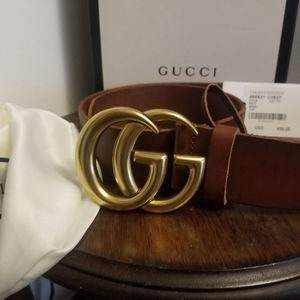 GucciGG Brown Leather Belt